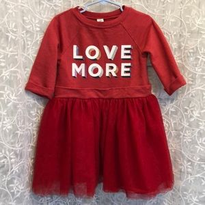 Old Navy Red 1/2 Sleeve Sweater/Tulle Dress
